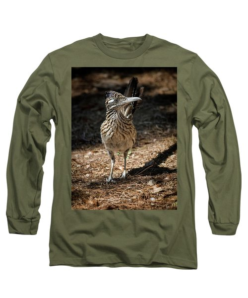 The Greater Roadrunner Walk  Long Sleeve T-Shirt by Saija Lehtonen