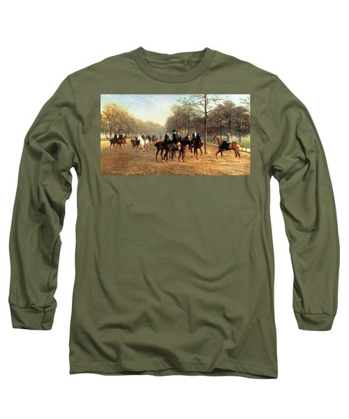 The Morning Ride Rotten Row Hyde Park Long Sleeve T-Shirt by Heywood Hardy
