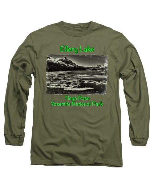 Tioga Pass Lake Ellery Early Summer Long Sleeve T-Shirt by Roger Passman