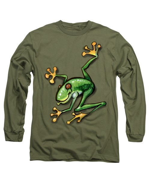 Tree Frog Long Sleeve T-Shirt by Kevin Middleton