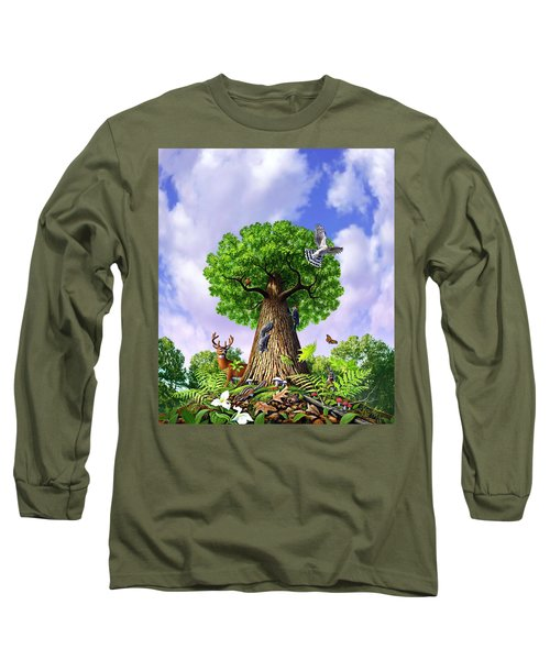 Tree Of Life Long Sleeve T-Shirt by Jerry LoFaro
