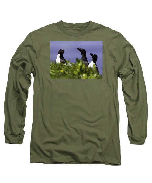 Trio Long Sleeve T-Shirt by Marie Elise Mathieu