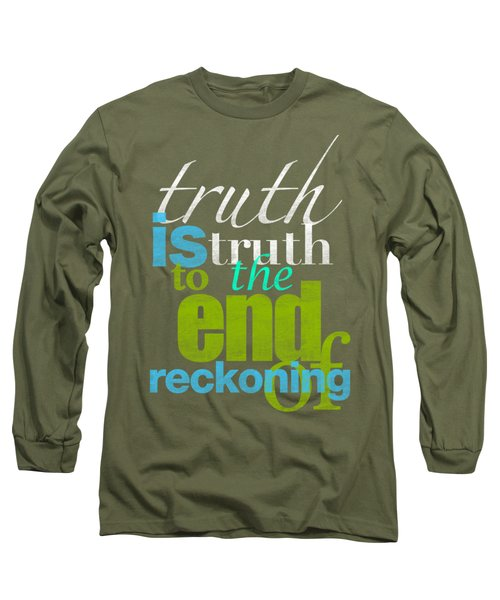 Michael Jackson Truth Is Truth Long Sleeve T-Shirt by D Francis