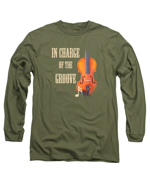 Violin Violas In Charge Of The Groove 5539.02 Long Sleeve T-Shirt by M K  Miller