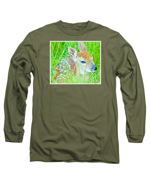 Long Sleeve T-Shirt featuring the photograph Whitetailed Deer Fawn by A Gurmankin