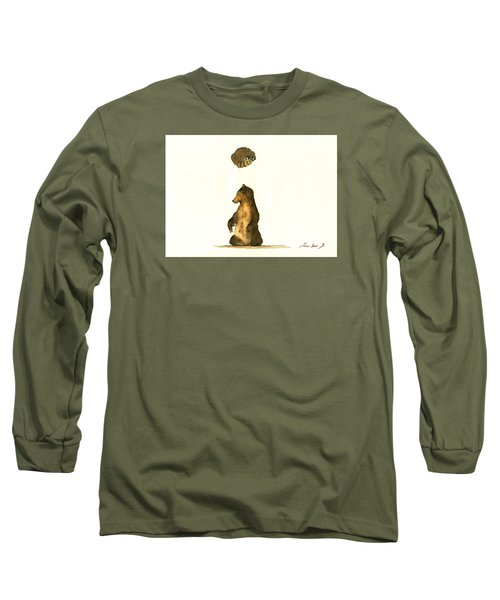 Woodland Letter I Long Sleeve T-Shirt by Juan  Bosco
