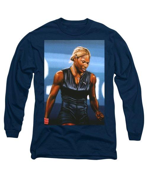 Serena Williams Long Sleeve T-Shirt by Paul Meijering
