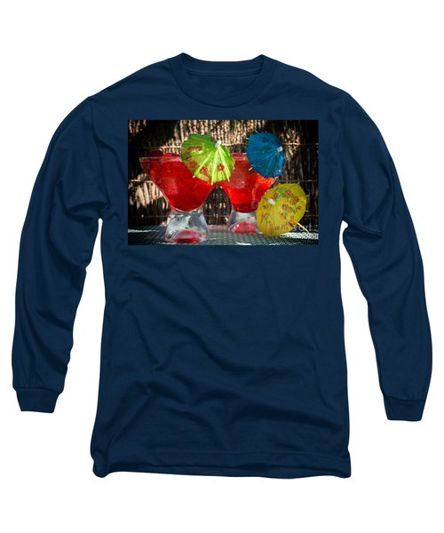 Shirley Temple Cocktail Long Sleeve T-Shirt by Iris Richardson
