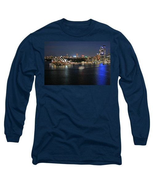 Sydney Harbor At Circular Quay Long Sleeve T-Shirt by Ellen Henneke