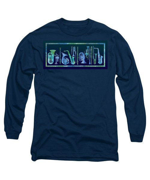Cool Blue Band Long Sleeve T-Shirt by Jenny Armitage