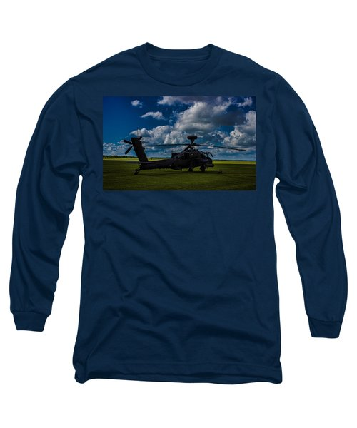 Apache Gun Ship Long Sleeve T-Shirt by Martin Newman