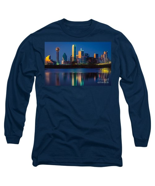 Big D Reflection Long Sleeve T-Shirt by Inge Johnsson