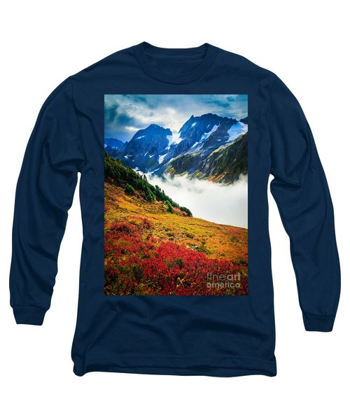 Cascade Pass Peaks Long Sleeve T-Shirt by Inge Johnsson