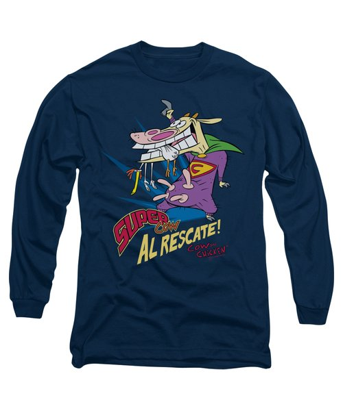 Cow And Chicken - Super Cow Long Sleeve T-Shirt by Brand A