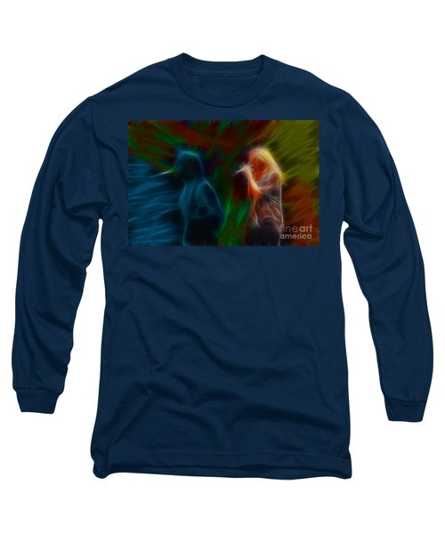 Def Leppard-adrenalize-jor-gb20--fractal Long Sleeve T-Shirt by Gary Gingrich Galleries