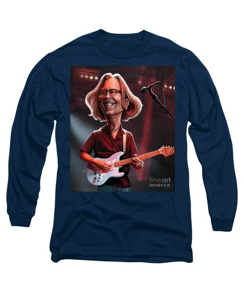 Eric Clapton Long Sleeve T-Shirt by Andre Koekemoer