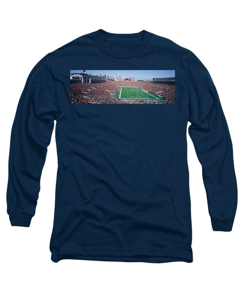 Football, Soldier Field, Chicago Long Sleeve T-Shirt by Panoramic Images