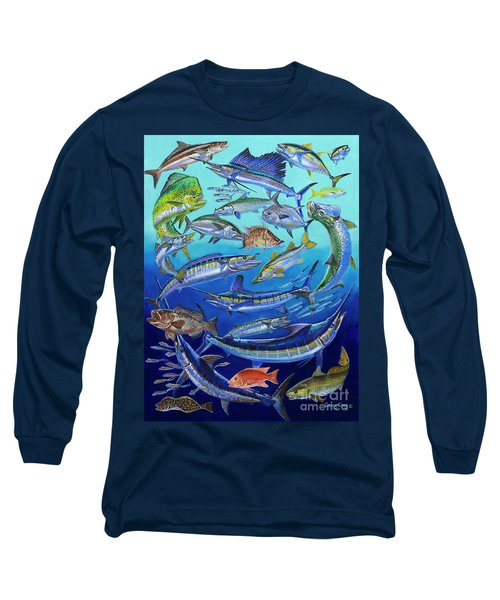 Gamefish Collage In0031 Long Sleeve T-Shirt by Carey Chen