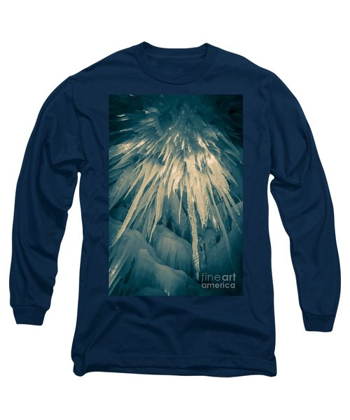 Ice Cave Long Sleeve T-Shirt by Edward Fielding