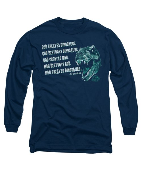 Jurassic Park - God Creates Dinosaurs Long Sleeve T-Shirt by Brand A