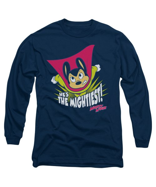 Mighty Mouse - The Mightiest Long Sleeve T-Shirt by Brand A