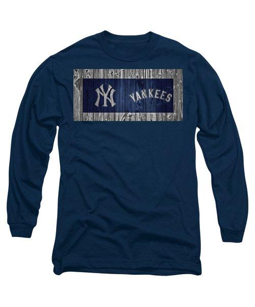 New York Yankees Barn Door Long Sleeve T-Shirt by Dan Sproul