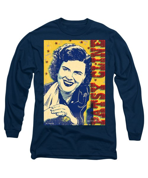 Patsy Cline Pop Art Long Sleeve T-Shirt by Jim Zahniser