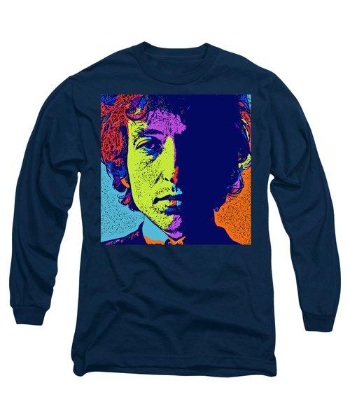 Pop Art Dylan Long Sleeve T-Shirt by David G Paul