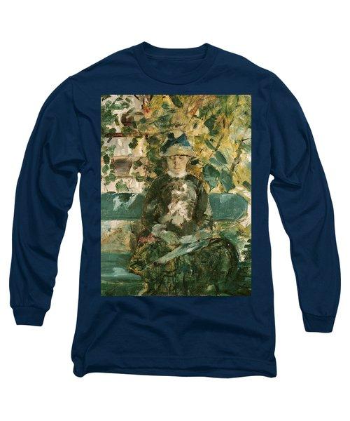Portrait Of Adele Tapie De Celeyran Long Sleeve T-Shirt by Henri de Toulouse-Lautrec