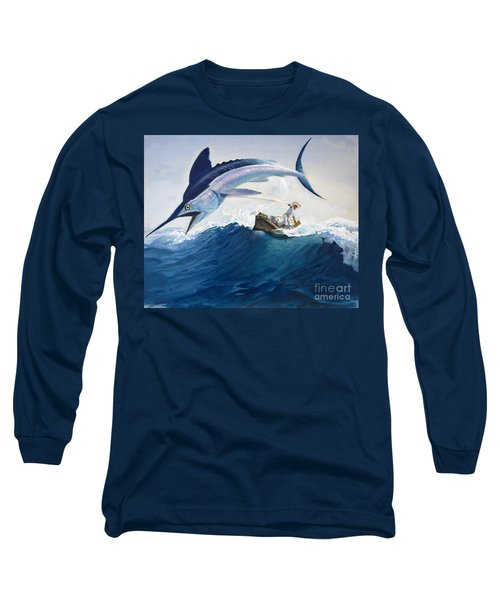 The Old Man And The Sea Long Sleeve T-Shirt by Harry G Seabright