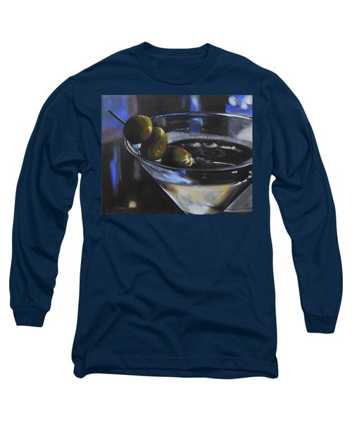 Three Olive Martini Long Sleeve T-Shirt by Donna Tuten