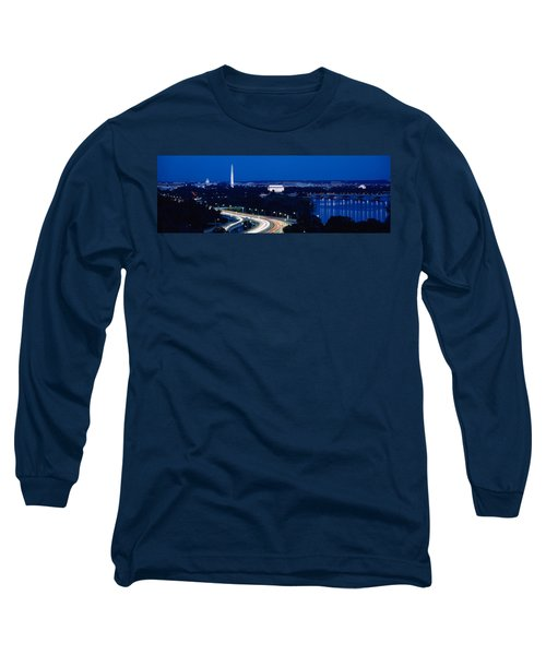 Traffic On The Road, Washington Long Sleeve T-Shirt by Panoramic Images