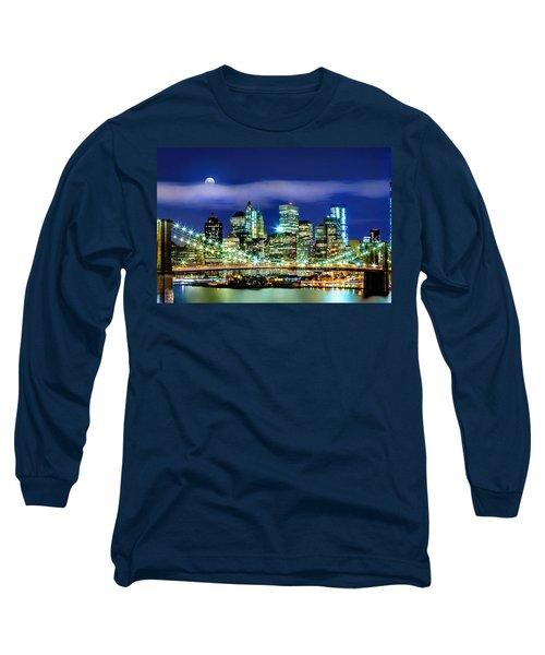 Watching Over New York Long Sleeve T-Shirt by Az Jackson
