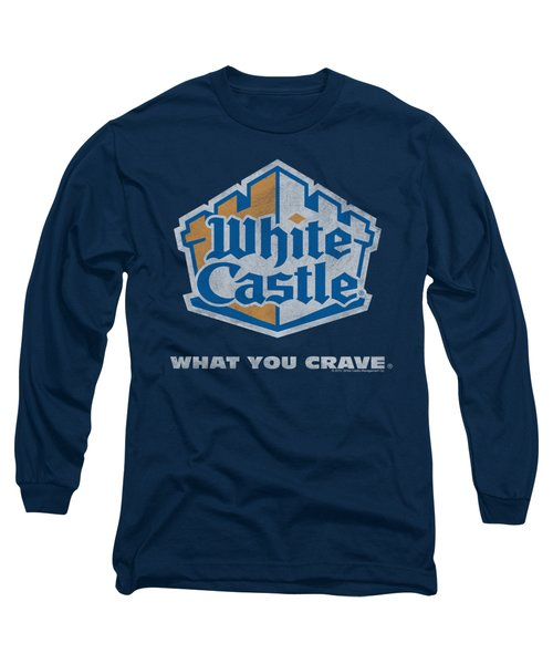 White Castle - Distressed Logo Long Sleeve T-Shirt by Brand A