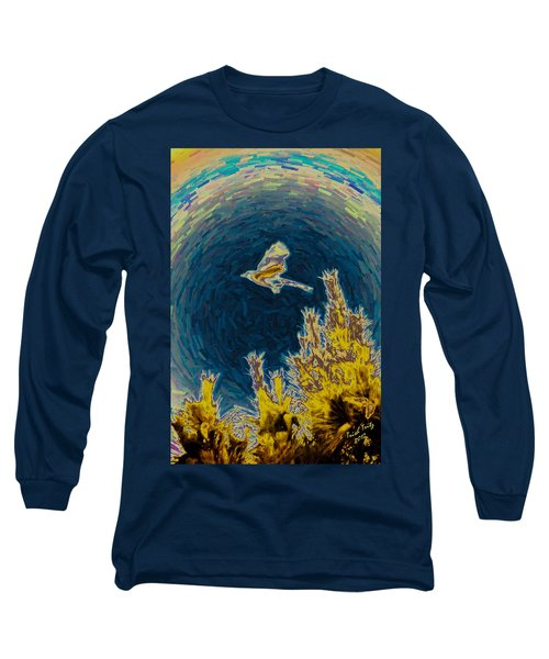 Bluejay Gone Wild Long Sleeve T-Shirt by Trish Tritz