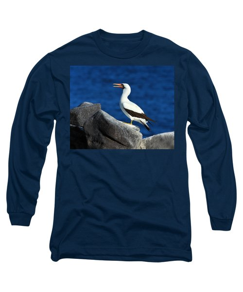 Nazca Booby Long Sleeve T-Shirt by Tony Beck