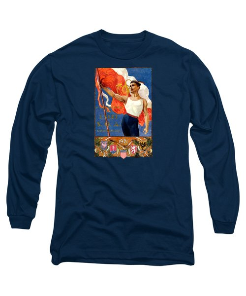 1921 Czech Sokol Of Chicago  Long Sleeve T-Shirt by Historic Image