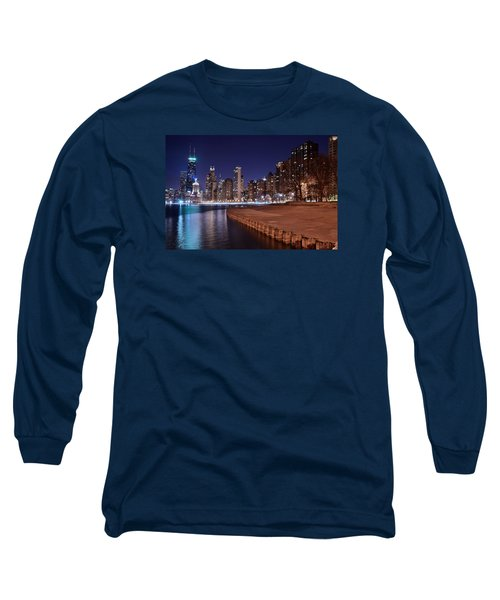 Chicago From The North Long Sleeve T-Shirt by Frozen in Time Fine Art Photography