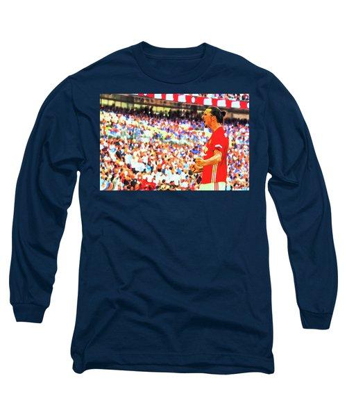 Manchester United's Zlatan Ibrahimovic Celebrates Long Sleeve T-Shirt by Don Kuing