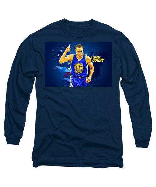 Stephen Curry Long Sleeve T-Shirt by Semih Yurdabak