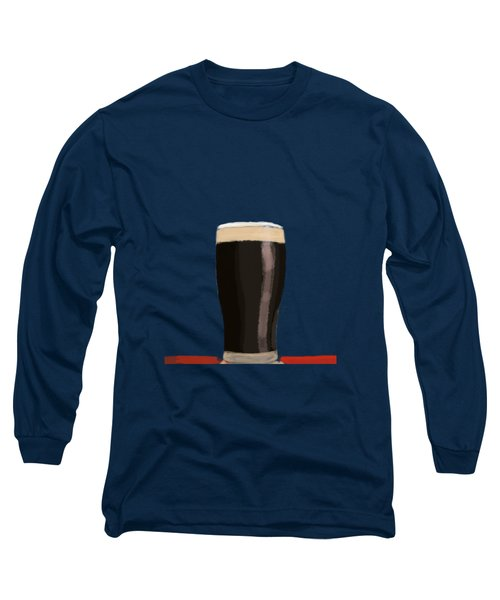 A Glass Of Stout Long Sleeve T-Shirt by Keshava Shukla
