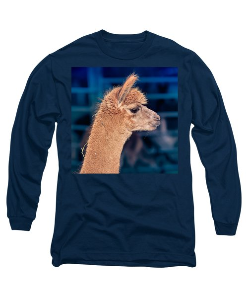 Alpaca Wants To Meet You Long Sleeve T-Shirt by TC Morgan