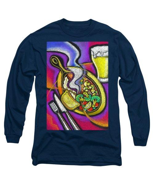 Appetizing Dinner Long Sleeve T-Shirt by Leon Zernitsky