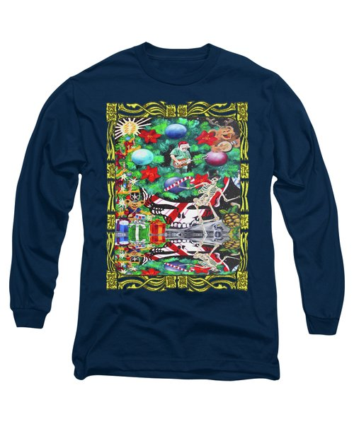 Christmas On The Moon Long Sleeve T-Shirt by Kevin J Cooper Artwork