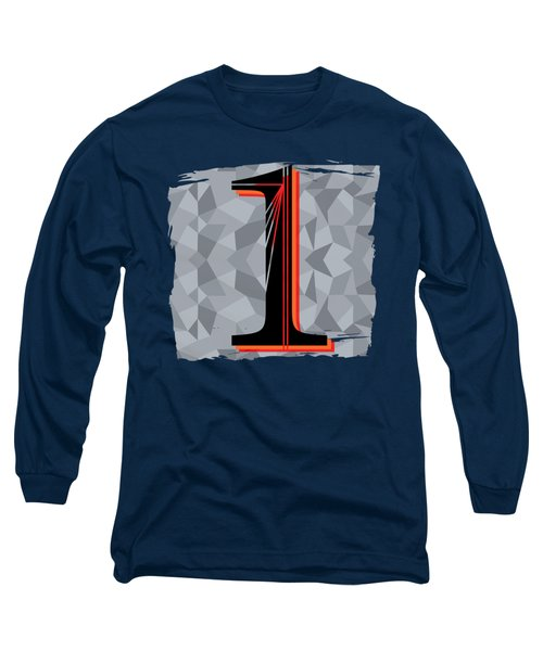 Number 1 One Long Sleeve T-Shirt by Liesl Marelli