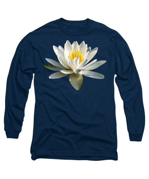 White Water Lily Long Sleeve T-Shirt by Christina Rollo