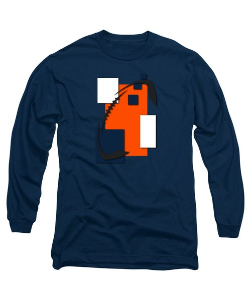 Broncos Abstract Shirt Long Sleeve T-Shirt by Joe Hamilton