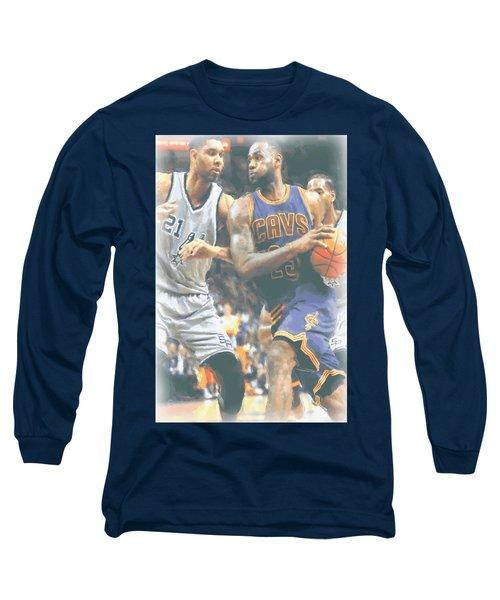 Cleveland Cavaliers Lebron James 4 Long Sleeve T-Shirt by Joe Hamilton