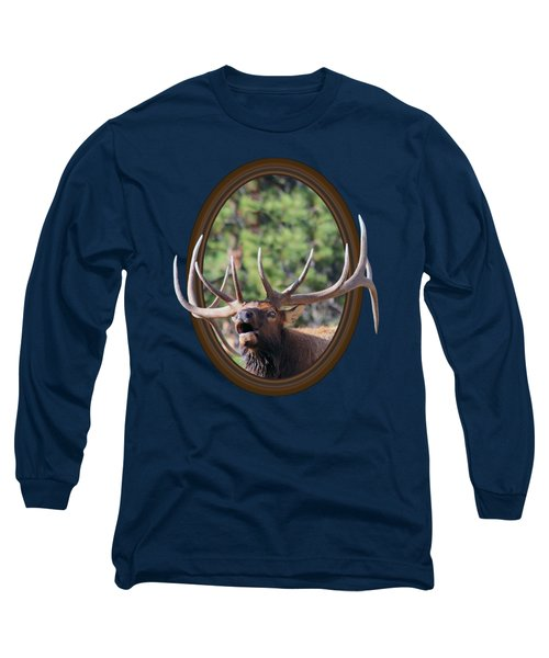 Colorado Bull Elk Long Sleeve T-Shirt by Shane Bechler