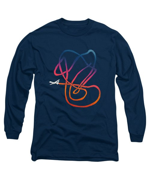 Drunk Drone Long Sleeve T-Shirt by Illustratorial Pulse